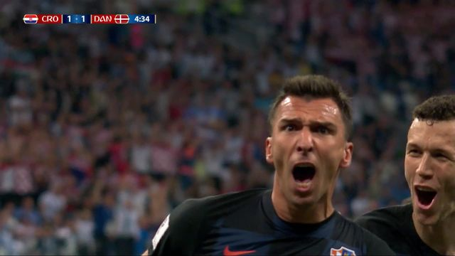 1-8, Croatie– Danemark (1-1) : 4e, Mandzukic [RTS]