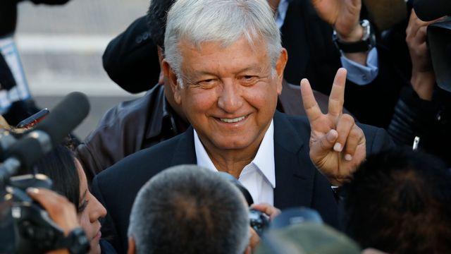 Le candidat à la présidentielle mexicaine Andres Manuel Lopez Obrador offre une victoire historique à la gauche. [Carlos Jasso - Reuters]