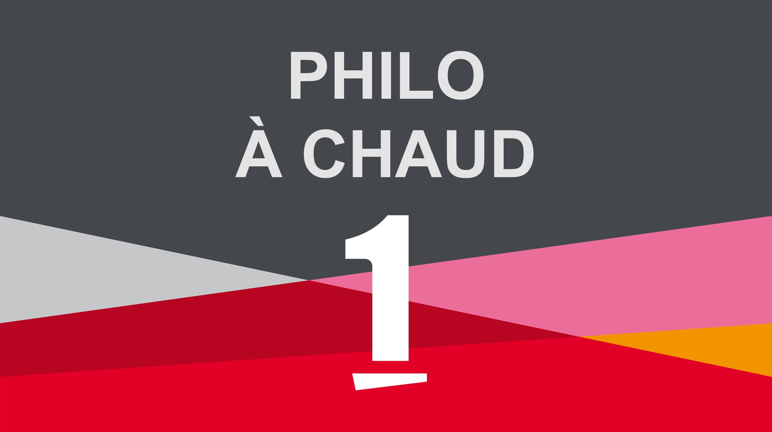 """Visuel de l'émission """"Philo à chaud"""". [DR - RTS]"""