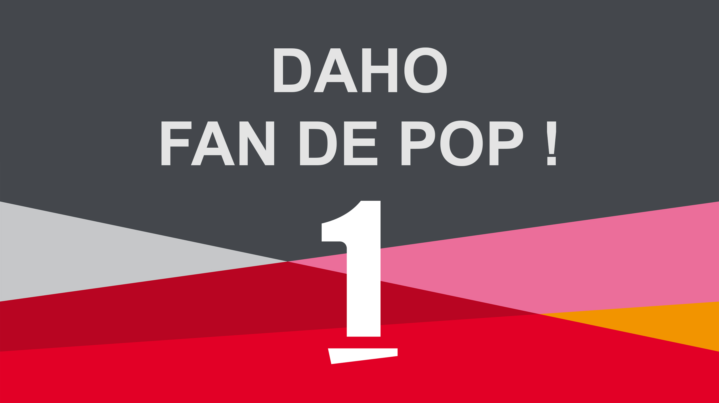 "Visuel de l'émission ""Daho fan de pop!"". [DR - RTS]"