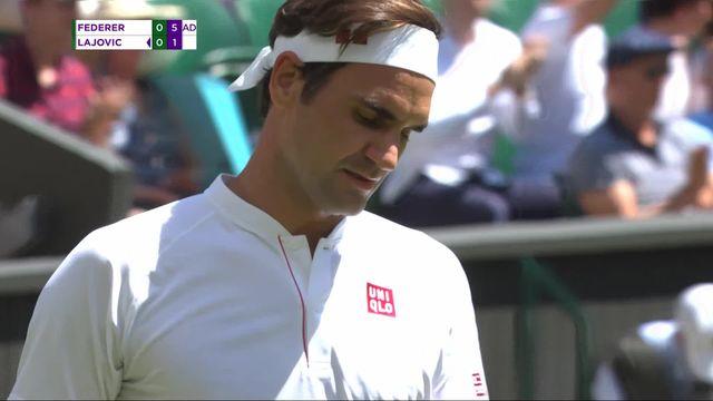 1er tour, R.Federer (SUI) – D.Lajovic (SRB) (6-1): premier set facilement remporté par Roger [RTS]