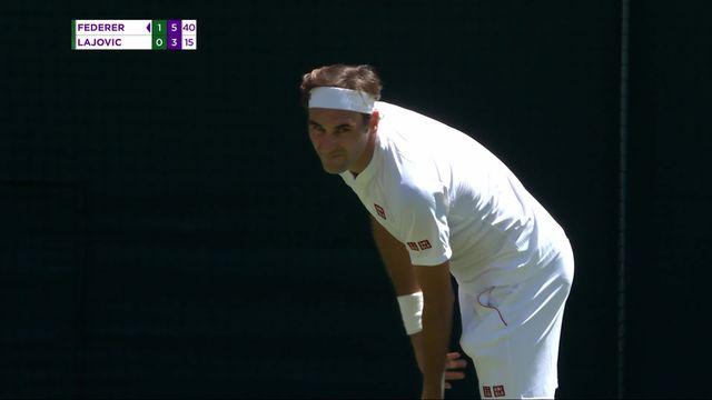 1er tour, R.Federer (SUI) – D.Lajovic (SRB) (6-1, 6-3): deux sets à rien pour le Suisse [RTS]
