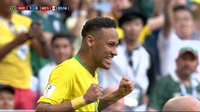 1-8, Brésil – Mexique (1-0): 51e, Neymar [RTS]