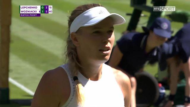 1er tour, V.Lepchenko (USA) battue par C.Wozniacki (DEN) (0-6, 3-6) [RTS]