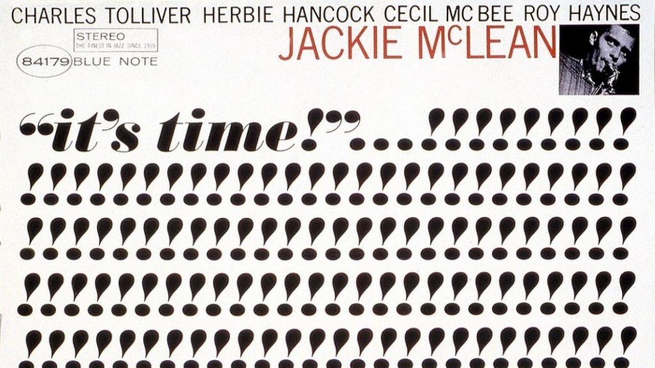 """La couverture de """"It's Time!"""" de Jackie Mc Lean- Le graphisme est signé Reid Miles. [Blue Note]"""