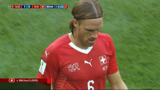 1-8, Suède – Suisse (1-0): 94e, expulsion de Lang [RTS]
