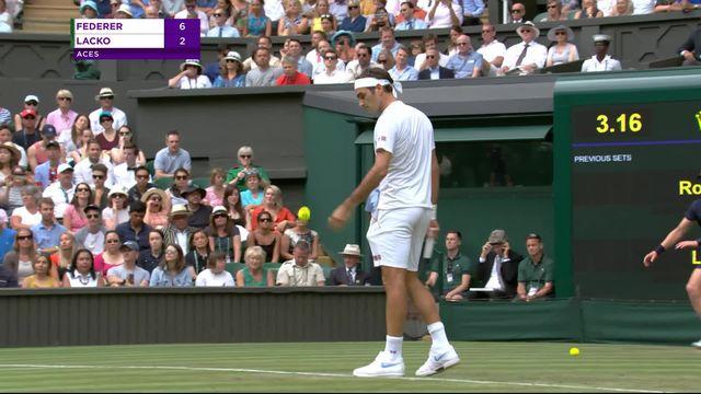 2e tour, R.Federer (SUI) – L.Lacko (SVK) (6-4): Federer remporte le premier set [RTS]
