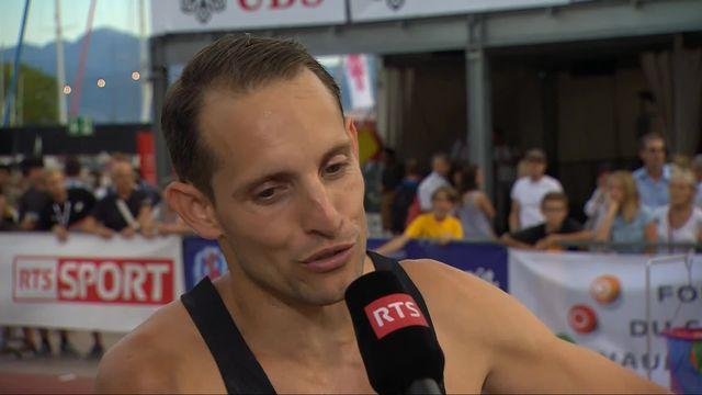 Athlétissima, saut à la perche messieurs: l'interview de Renaud Lavillenie (FRA) après sa victoire [RTS]