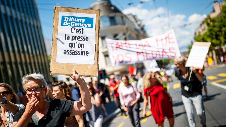 La grève maintenue, les journaux de Tamedia paraissent en version réduite