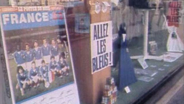 Allez les Bleus, tous derrière la France en 1982. [RTS]