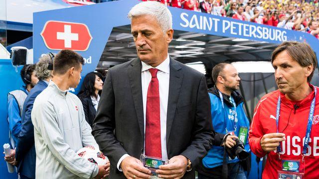 Vladimir Petkovic a du subir certaines critiques sévères après la défaite de la Suisse. [Laurent Gilliéron - Keystone]
