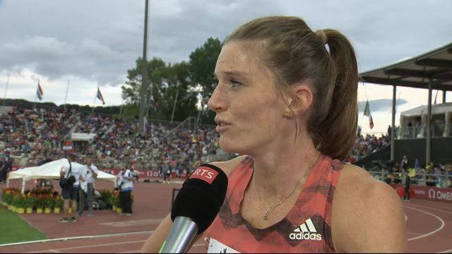 Athlétissima, 400m haies dames: Sprunger à l'interview après sa course [RTS]