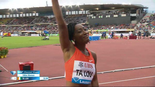 Athlétissima, 100m dames: Ta Lou (CIV) 1re, Kambudji 5e en 11'03 bat le record de Suisse [RTS]