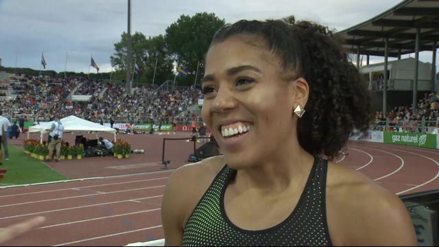 Athlétissima, 100m dames: Kambudji au micro de RTS Sport après sa très belle performance [RTS]