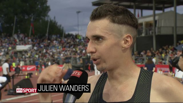 Athlétissima, 5000m messieurs: Wanders (SUI) à l'interview [RTS]