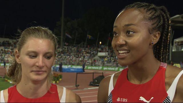 Athlétissima, 4x100m dames: l'interview des quatre Suissesses victorieuses [RTS]