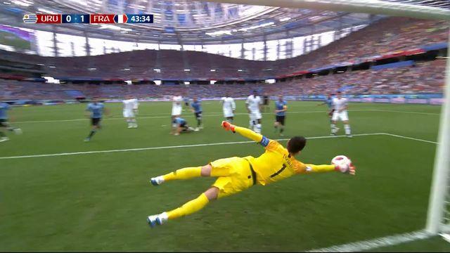 1-4, Uruguay - France (0-1): 44e, Magnifique arrêt de Lloris [RTS]