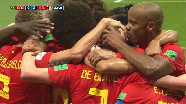 1-4, Brésil - Belgique (0-2): 31e, De Bruyne [RTS]