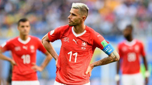 Behrami et Cie était capitaine de la sélection suisse face à la Suède [Laurent Gilliéron - Keystone]