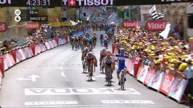 1e étape: Fernando Gaviria (COL) premier maillot jaune [RTS]