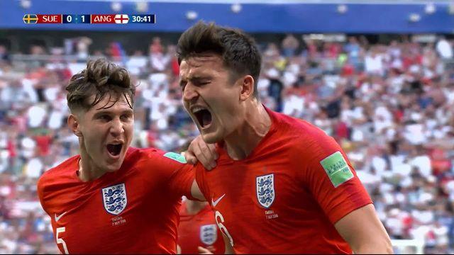 1-4, Suède – Angleterre (0-1) : 30e, tête imparable de Maguire qui ouvre le score pour les Anglais [RTS]