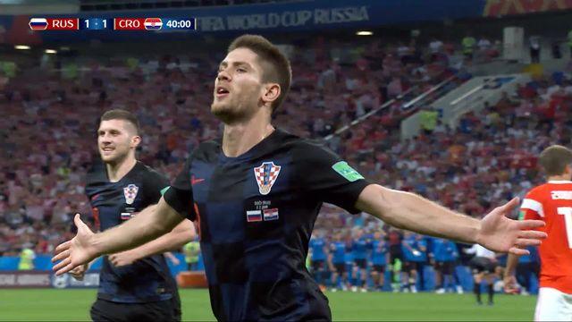 1-4, Russie - Croatie (1-1): 39e, Andrej Kramaric égalise de la tête pour la Croatie [RTS]