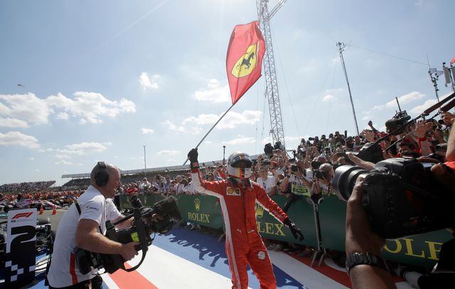 Sebastian Vettel a vécu une course de rêve à Silverstone. [Luca Bruno - Keystone]