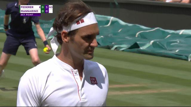 1-8, R.Federer (SUI) - A.Mannarino (FRA) (6-0): Federer remporte le premier set en 17 minutes [RTS]