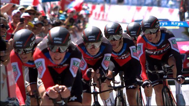 3e étape: l'équipe BMC remporte le contre-la-montre par équipes [RTS]