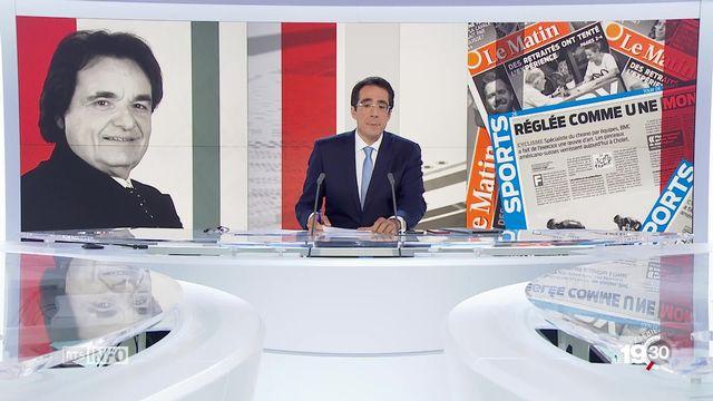 """Tamedia: un projet de périodique se dessine """"Le Matin Sports"""". A la manoeuvre, Christian Constantin, Président du FC Sion [RTS]"""
