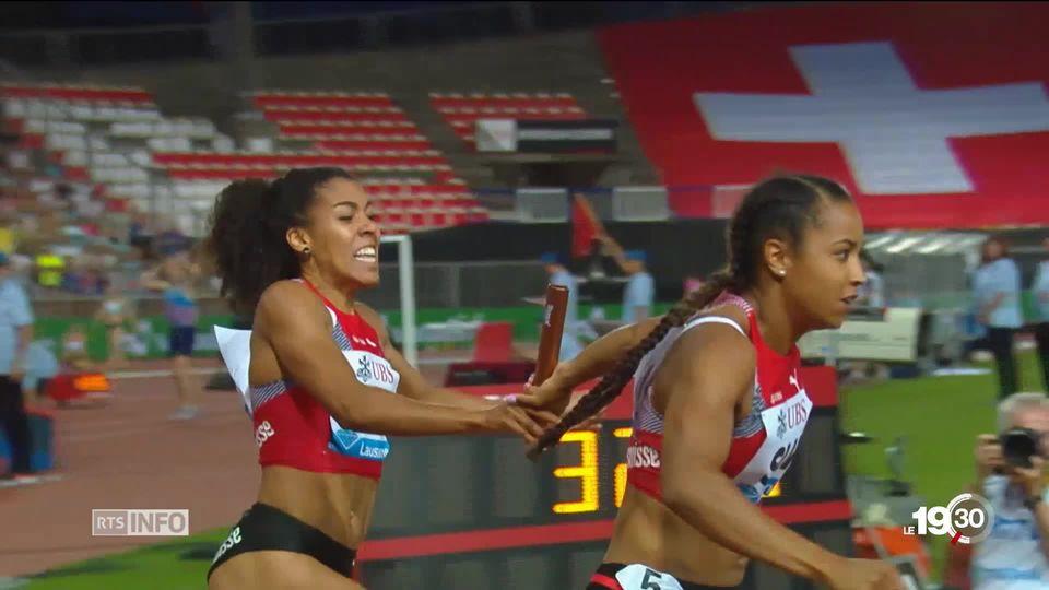 Athletissima: la Pontaise prête à s'embraser avec les filles du 4x100 mètres. Une équipe en piste pour une médaille [RTS]
