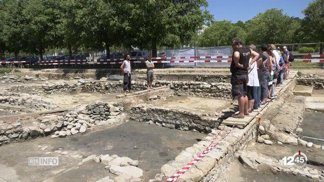 Portes ouvertes au site de fouilles archéologiques de Lausanne Vidy [RTS]