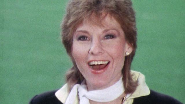"""""""Allez la France"""", chante Denise Fabre lors de la Coupe du monde 1982. [RTS]"""