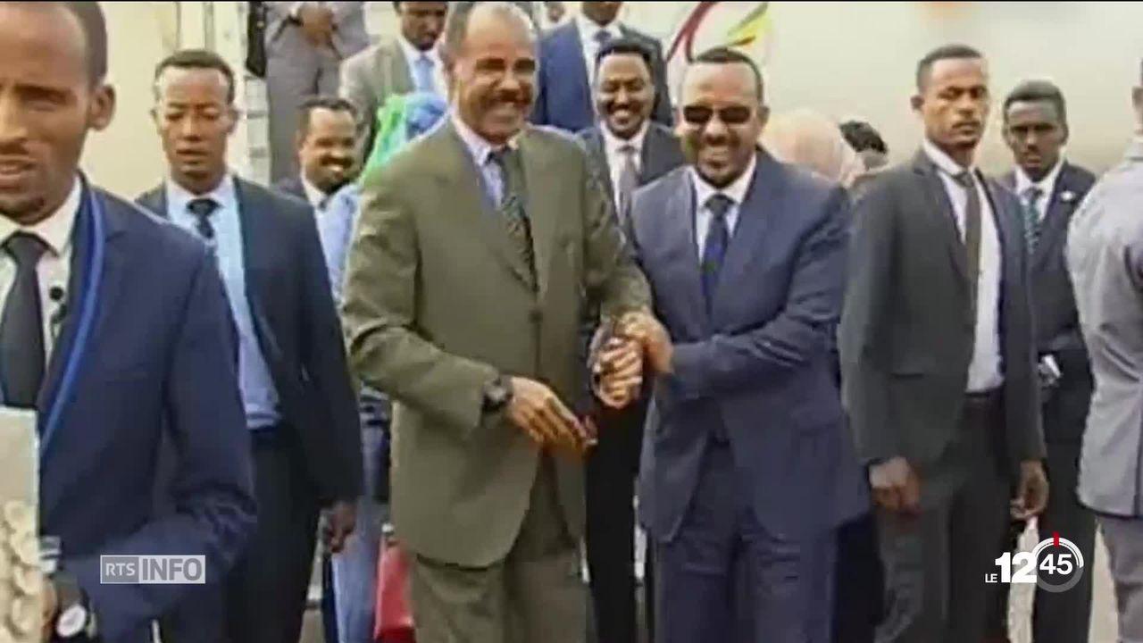 Le président Ethiopien et le premier ministre érythréen ont signé une déclaration conjointe de paix mettant fin à 20 ans de conflit [RTS]