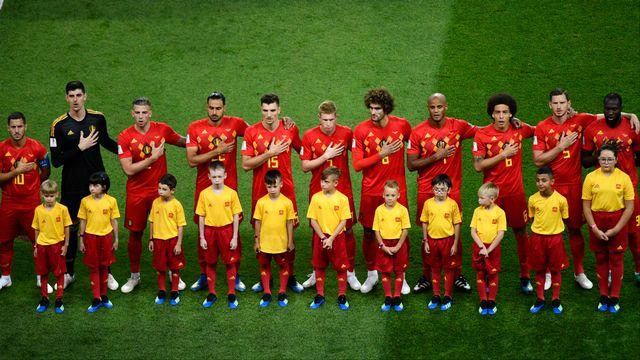 L'équipe belge de football. [Saeed Khan - AFP]