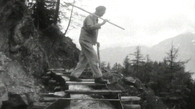 Bisses: la ruée vers l'eau, 1963. [RTS]