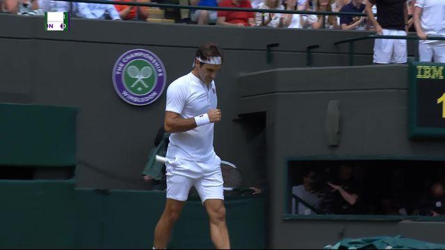 1-4, R.Federer (SUI) – K.Anderson (RSA) (6-2, 7-6): Federer empoche la seconde manche au tie-break [RTS]