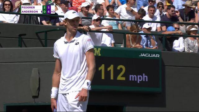 1-4, R.Federer (SUI) – K.Anderson (RSA) (6-2, 7-6, 5-7): Kevin Anderson prend le 3e set [RTS]