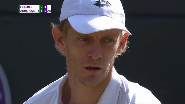 1-4, R.Federer (SUI) – K.Anderson (RSA) (6-2, 7-6, 5-7, 4-6): Federer poussé au 5e set [RTS]