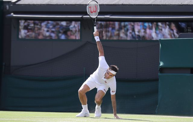 Federer a boisé énormément de coups. [Ben Curtis - Keystone]
