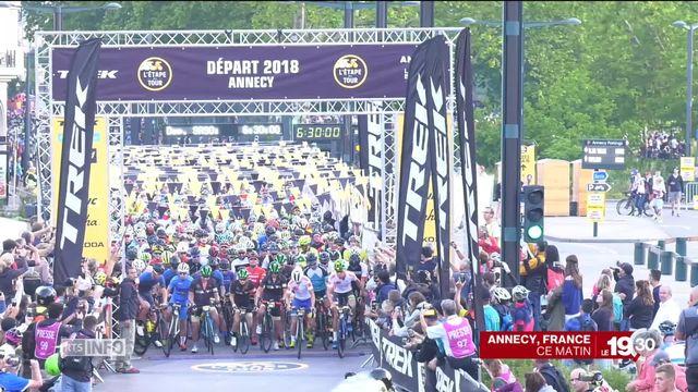 15'000 cyclistes amateurs ont roulé sur une étape du Tour de France [RTS]