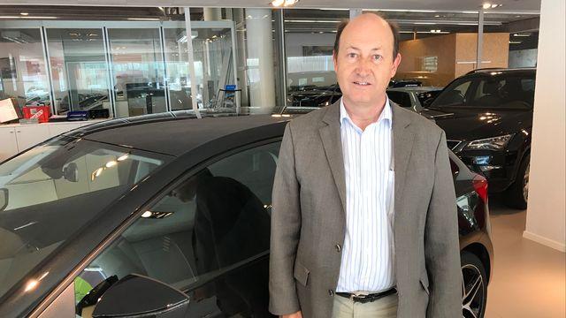 Pierre Daniel Senn, co-direceur de Automobiles Senn SA à Neuchâtel. [Romain Bardet - RTS]