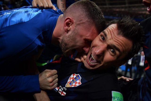 Mario Mandzukic photographié par Yuri Cortes après son but. [Yuri Cortez - AFP]