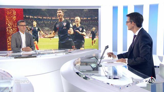 Coupe du monde de football : la Croatie défait l'Angleterre [RTS]