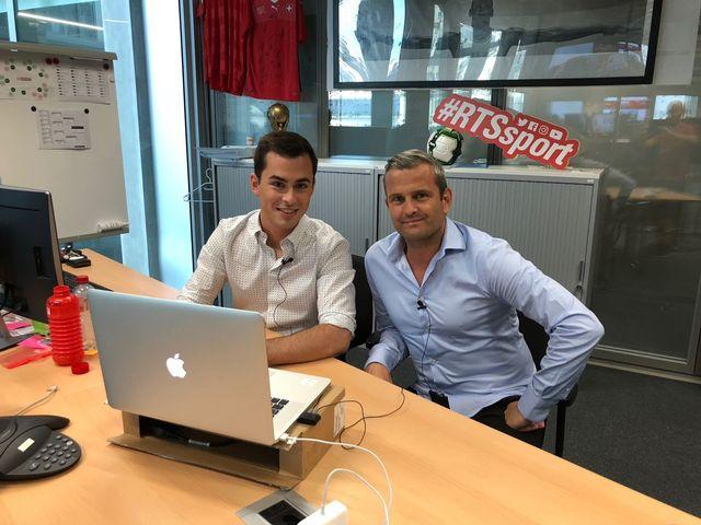 Brian Wakker et Alexandre Comisetti ont répondu aux questions des internautes. [RTS]