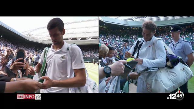 Nadal affontera Djokovic en demi-finale à Wimbledon. Avec les explications d'Isabelle Musy [RTS]