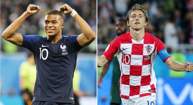 Qui de Kylian Mbappé ou Luka Modric pourra lever les bras dimanche? [E-Laurent/A.Babani - Keystone]
