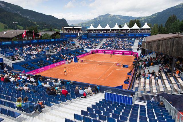 L'Open de Gstaad fera la part belle aux représentantes helvétiques cette année. [Peter Klaunzer - Keystone]