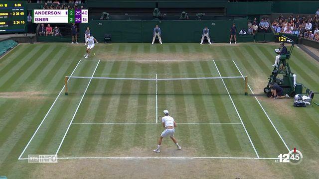 Wimbledon : la demi-finale entre John Isner et Kevin Anderson a duré 6 heures [RTS]