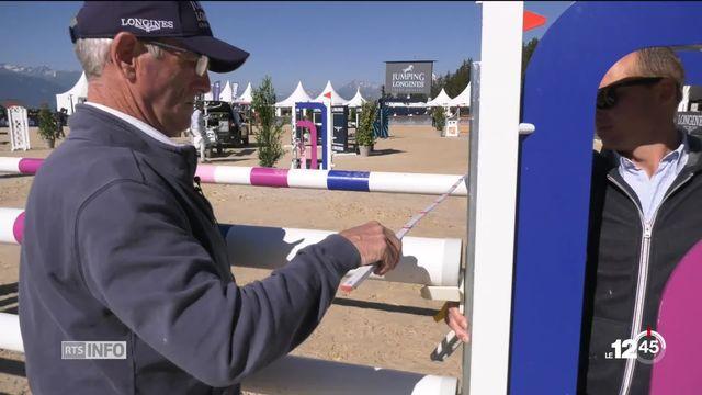 Rolf Lüdi, créateur du parcours de saut d'obstacles à Crans-Montana [RTS]